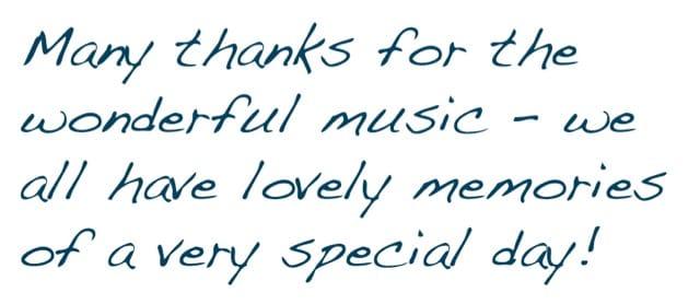 testimonial of thanks