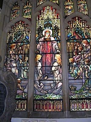 The Tiffany Window at Kimbolton