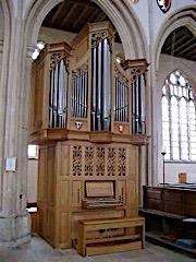 Vincent Woodstock organ at Fotheringhay